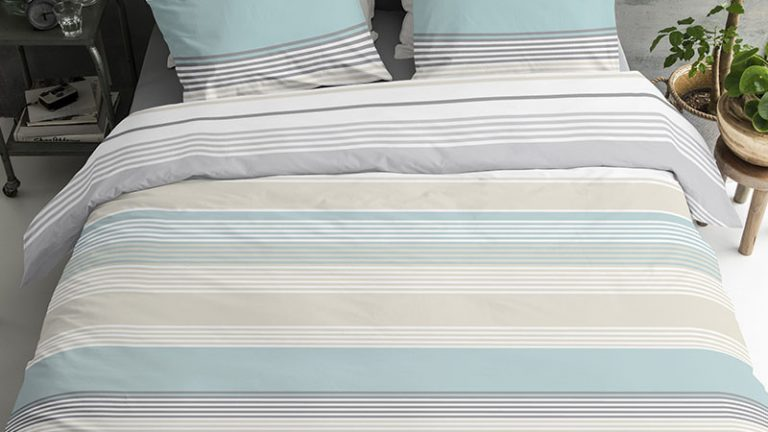 Fresh & Co Horizontal Stripes 1-persoons (140 x 220 cm + 1 kussensloop) Dekbedovertrek | 8719909029983 | Fresh & Co